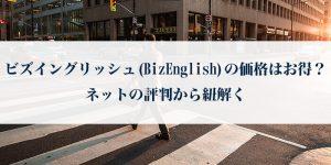 ビズイングリッシュ(BizEnglish)の価格はお得?ネットの評判から紐解く