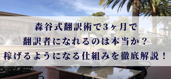 森谷式翻訳術で3ヶ月で翻訳者になれるのは本当か?稼げるようになる仕組みを徹底解説!